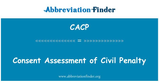 CACP: Sutikimo vertinimo civilinės bausmės