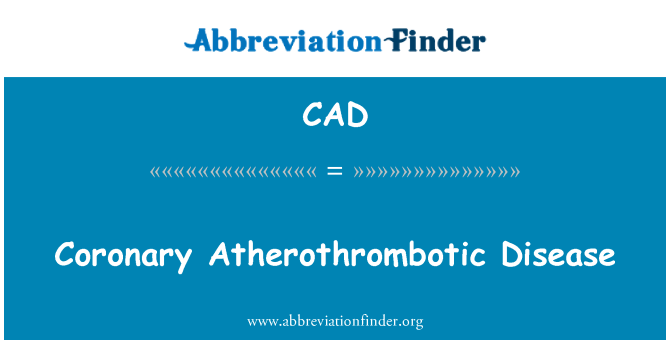 CAD: أثيروثرومبوتيك التاجية