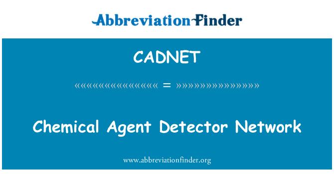 CADNET: Kimyasal ajan dedektörü ağ