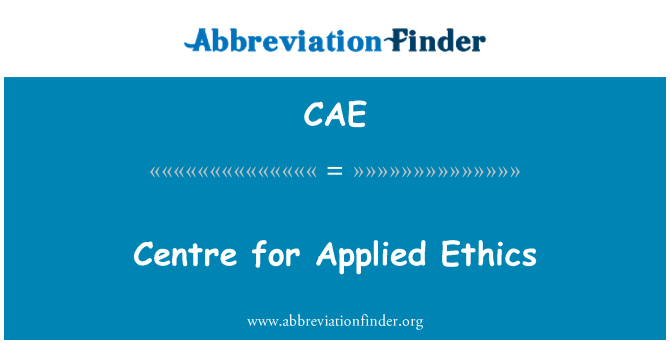 CAE: Centre for Applied Ethics