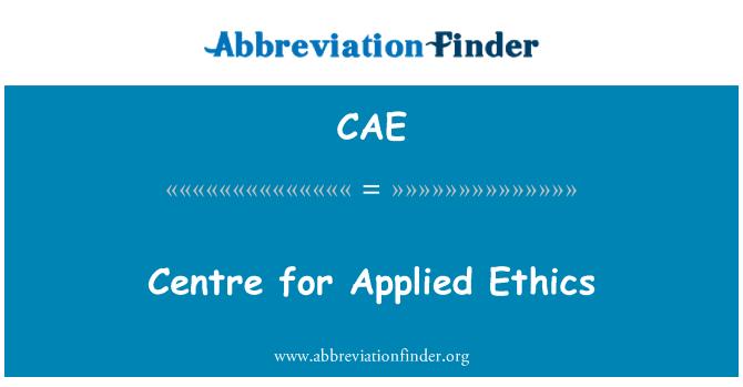 CAE: Centro de ética aplicada
