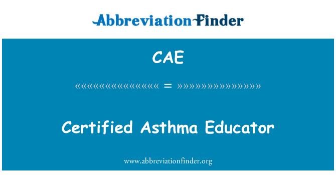 CAE: Certified Asthma Educator