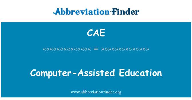 CAE: Educación asistida por computadora
