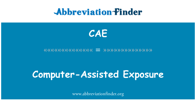 CAE: Computer-Assisted Exposure