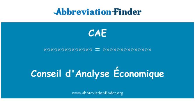 CAE: Conseil analyse Économique