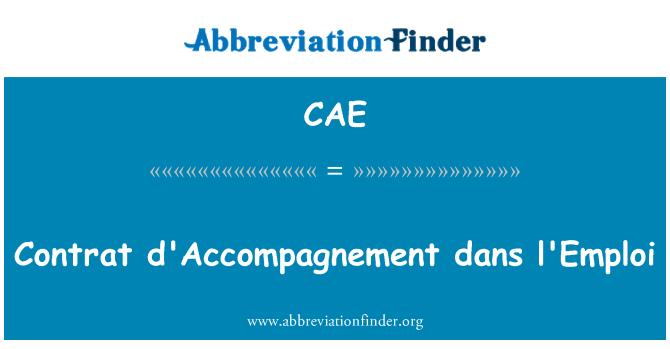 CAE: Contrat d ' accompagnement dans l ' emploi