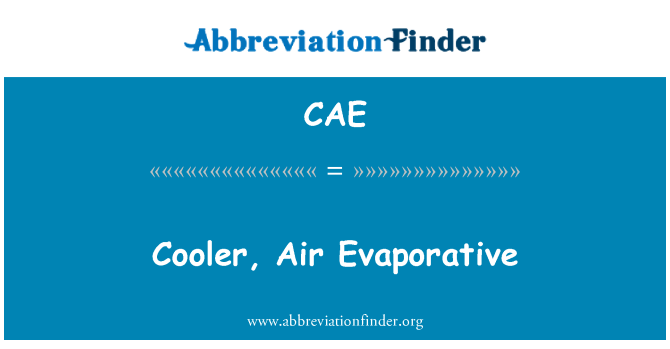CAE: Cooler, Air Evaporative