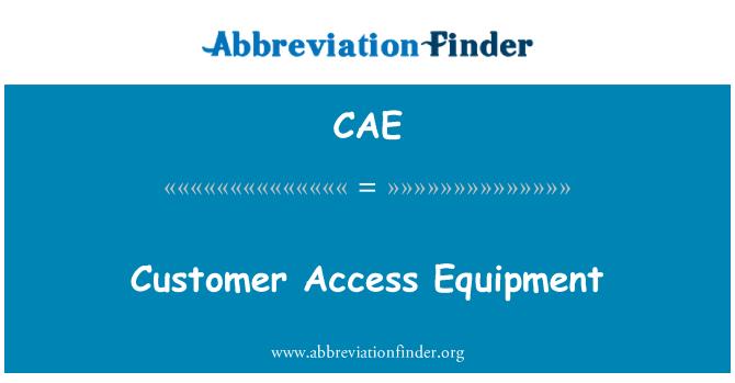 CAE: Equipo de acceso de cliente