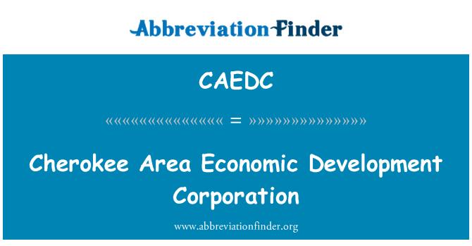 CAEDC: Cherokee Area Economic Development Corporation