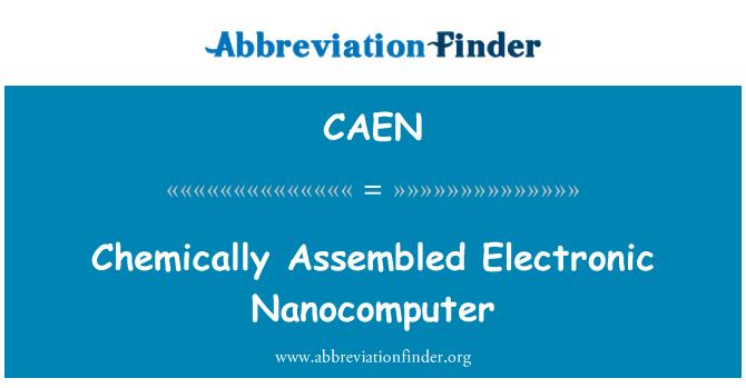 CAEN: Chemically Assembled Electronic Nanocomputer