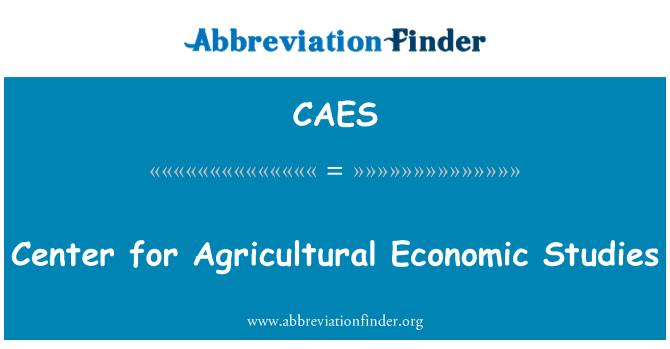 CAES: Center for Agricultural Economic Studies