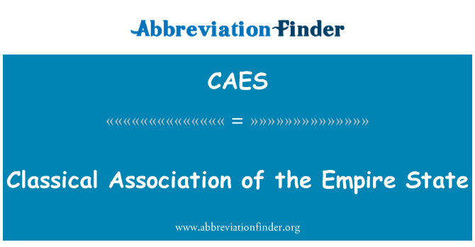 CAES: Classical Association of the Empire State