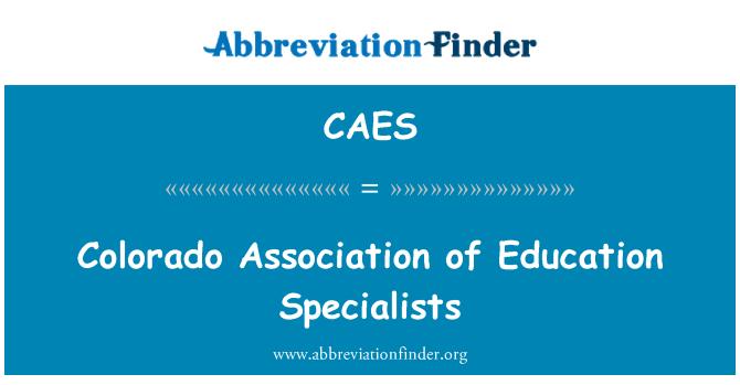 CAES: Colorado Association of Education Specialists