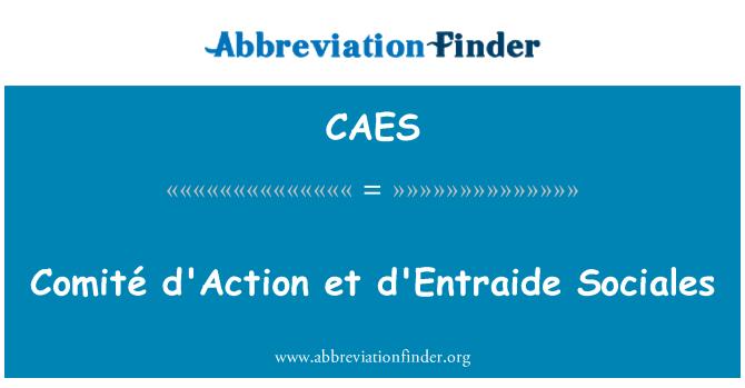 CAES: Comité d'Action et d'Entraide Sociales