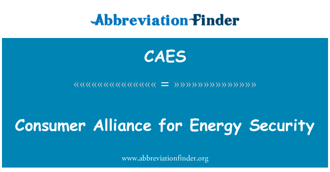 CAES: Consumer Alliance for Energy Security
