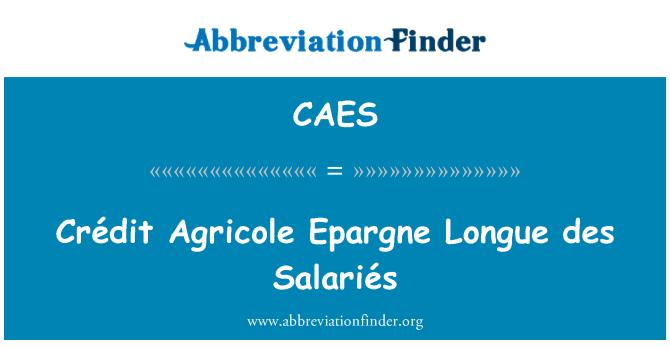 CAES: Crédit Agricole Epargne Longue des Salariés