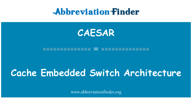CAESAR: Cache Embedded Switch Architecture
