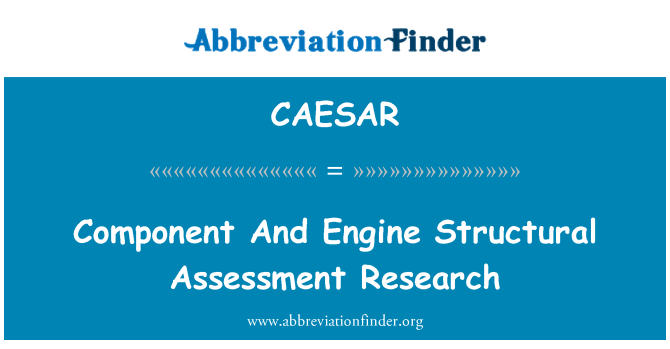 CAESAR: Component And Engine Structural Assessment Research