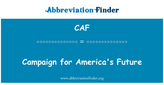CAF: Campaña para el futuro de América