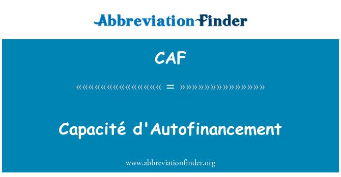 CAF: Capacité d'Autofinancement