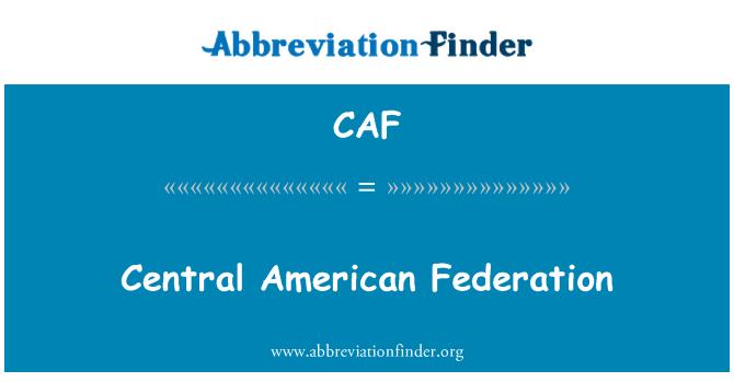 CAF: Централна Америка федерация