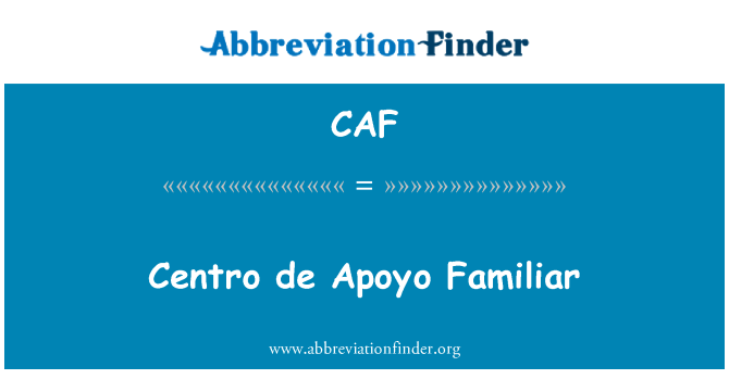 CAF: Centro de Apoyo Familiar