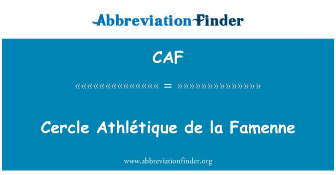 CAF: Cercle Athlétique de la Famenne