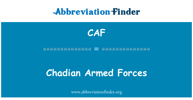 CAF: Chadian Armed Forces