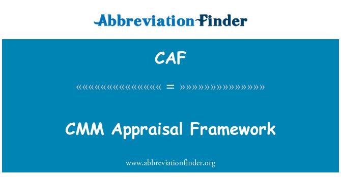 CAF: Marco de evaluación CMM