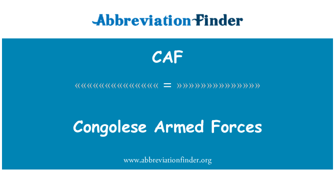CAF: Congolese Armed Forces