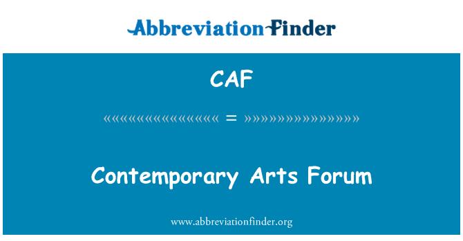 CAF: Foro de arte contemporáneo