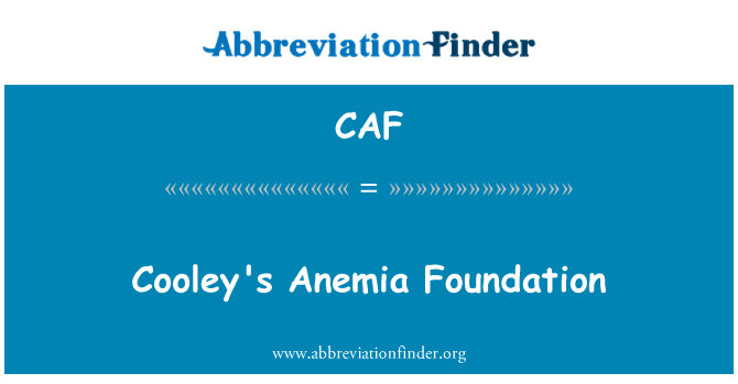 CAF: Cooley's Anemia Foundation