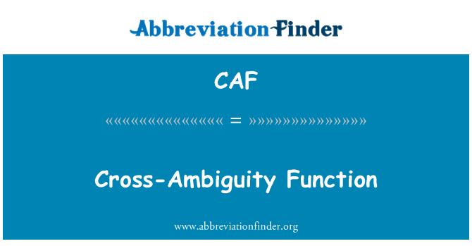 CAF: Función Cross-ambigüedad