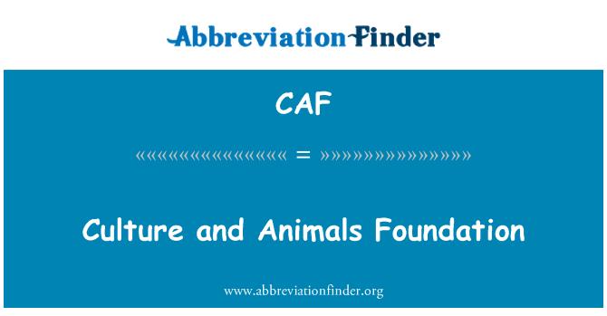 CAF: Fundación Cultura y animales
