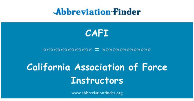 CAFI: 加州协会的部队教官