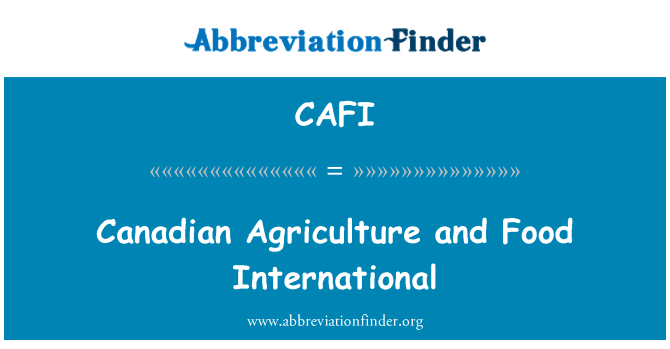 CAFI: 加拿大农业和食品国际