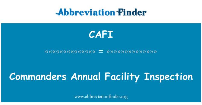 CAFI: Commanders Annual Facility Inspection