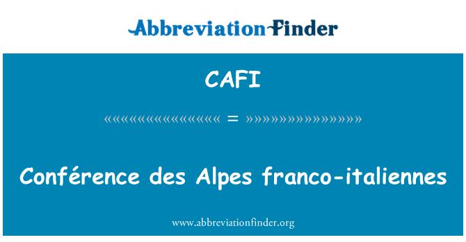 CAFI: Conférence des Alpes franco-italiennes