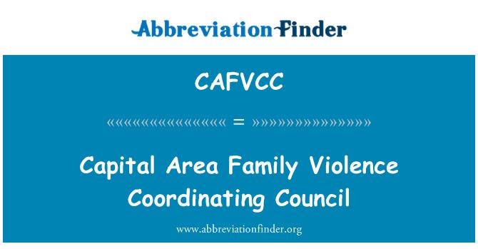 CAFVCC: Capital Area Family Violence Coordinating Council