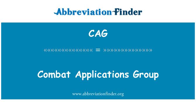 CAG: Grupo de aplicaciones de combate