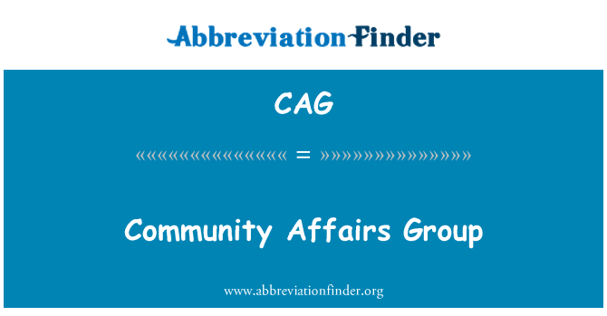 CAG: Community Affairs Group