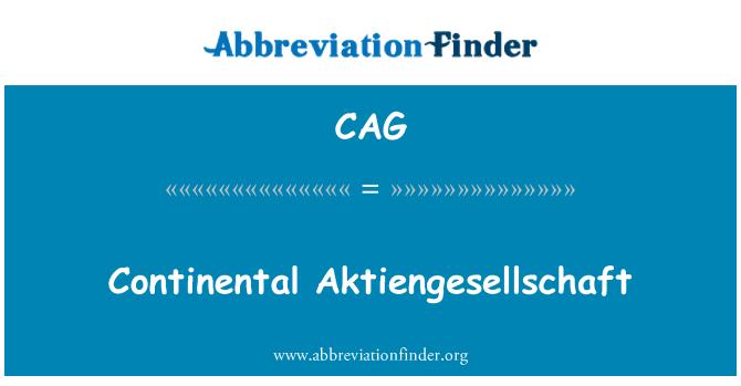 CAG: Continental Aktiengesellschaft