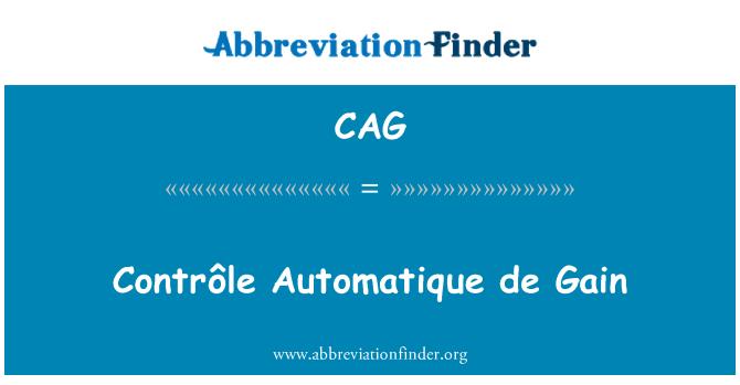 CAG: Control automático de ganancia