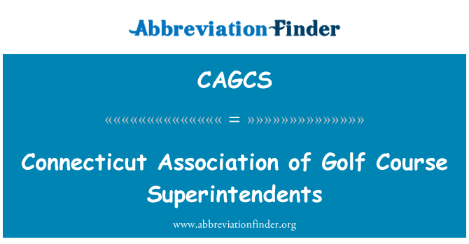 CAGCS: Connecticut Association of Golf Course Superintendents