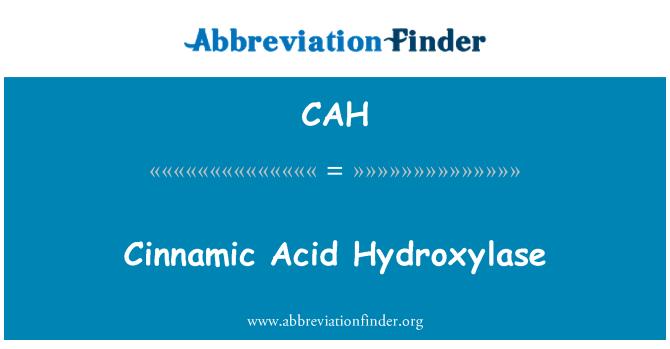 CAH: Cinnamic Acid Hydroxylase