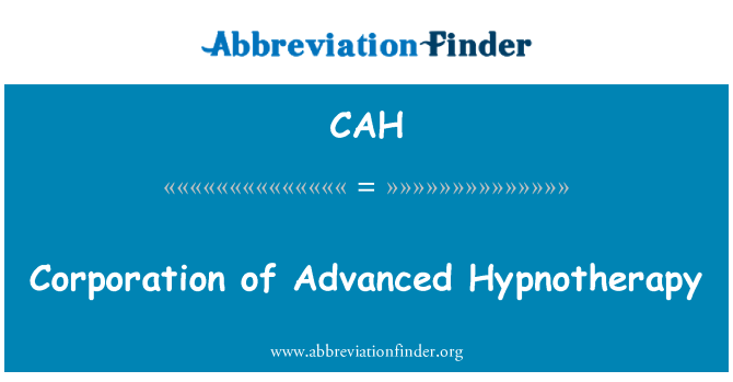 CAH: Corporación de hipnoterapia avanzada