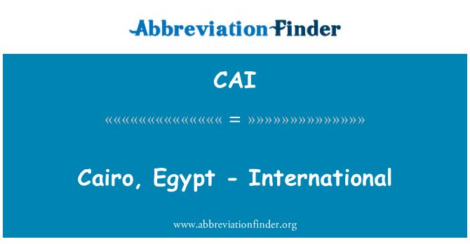 CAI: El Cairo, Egipto - internacional