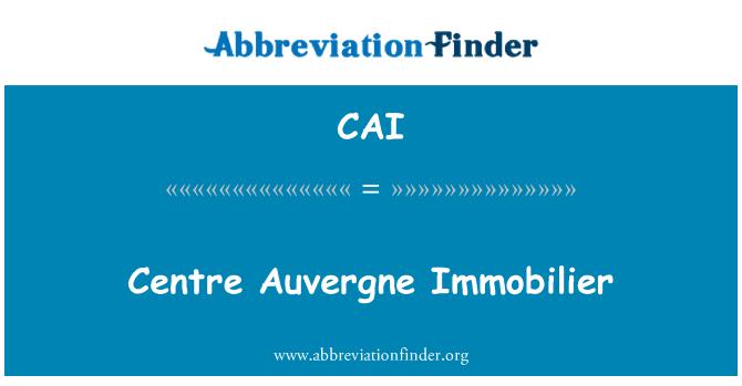 CAI: Centre Auvergne Immobilier