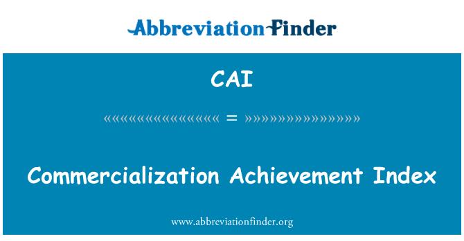 CAI: Índice de logro de comercialización