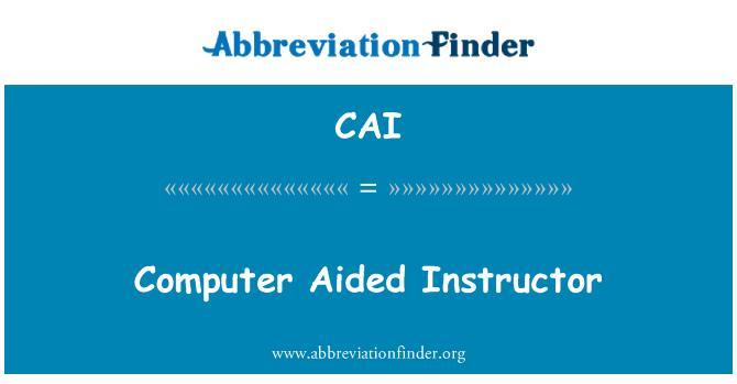 CAI: Instructor asistida por ordenador